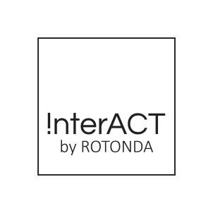 InterACT Logo by Rotonda in schwarz